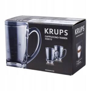 KRUPS zestaw oryginalnych szklanek cappuccino XS801000 2 sztuki