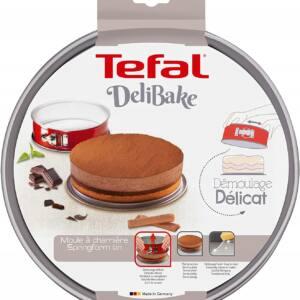 Tortownica z klamrą TEFAL DeliBake 25 cm czerwona