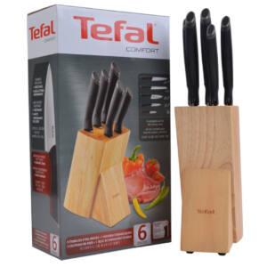 Oryginalny zestaw 9 noży w bloku TEFAL K221SB14